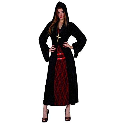 Mela Proibita - Halloween Karneval Kostüm von Nonne makaber Nonne Fest Abendanzug Fest - Mehrfarben, (Erwachsene Kostüme Nonne)