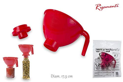 Rigamonti imbuto, polipropilene, rosso, 21,5x18x14,5