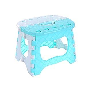 kabinga YM 102 plástico Simple, Banco pequeño de baño, Taburete de Pesca Plegable portátil para Adultos al Aire Libre para niños, Azul, Unisex-Youth, M