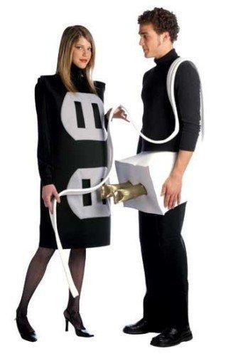 Kostüm Funny Paar - Kostüme Stecker und Steckdose 2 in 1 für Paare - Standard