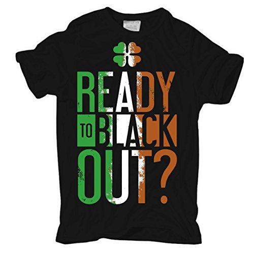 Männer und Herren T-Shirt READY TO BLACK OUT? Körperbetont schwarz