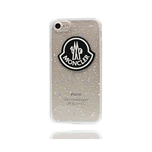 Custodia iPhone 7, Silicone trasparente Case iPhone 7 copertura Cover e ring supporto Shell Graffi Resistenti - 3D Bling Patatine fritte Color - 6