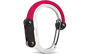 Lulabop Heroclip Carabiner Hanger with Rotating Folding Hook, Strong Clip for Camping and Travel