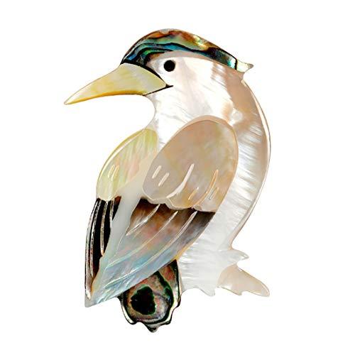 DIAOSI Niedlichen Vogel Tier Brosche/Anstecknadel, Muschelmaterial erstellen Sie eine kleine und einfache Stil Brosche Anzug mit Temperament Brosche Schmuck