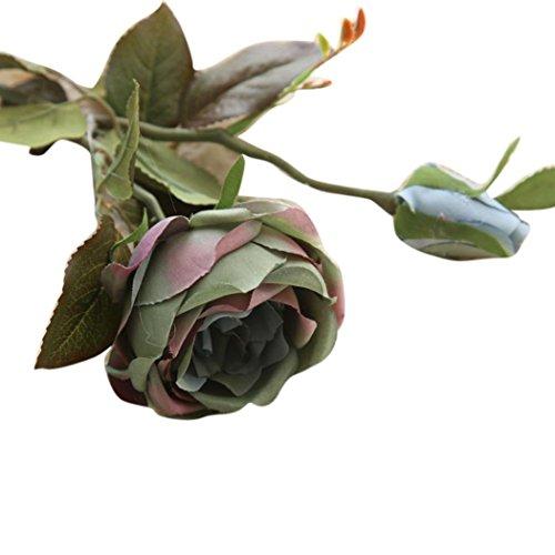 Unechte Blumen,Ronamick Künstliche Gefälschte Blumen Royal Rosen Blumen Hochzeit Bouquet Party Home Decor (Grün)