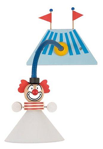 Niermann-Standby 328 - Wand-Leseleuchte Clown, E14,230 Volt, Flexrohr 30 cm ca. 180 cm Zuleitung mit Zwischenschalter inklusive Leuchtmittel