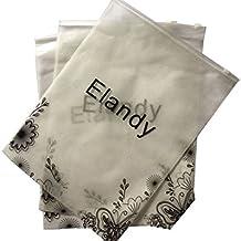 Confezione di 6piatti in tessuto non tessuto autosigillante imballaggio borse porta abiti scarpe antipolvere organizer Storage Bag di confezione sacchetto multifunzionale Ziplock salvaspazio borse perfetto per viaggi e Home Storage