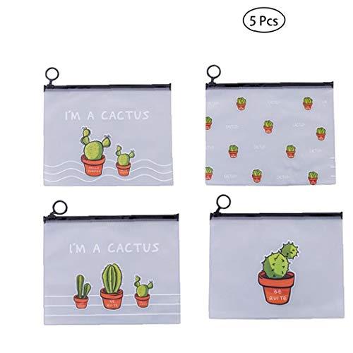 Cartoon-Kaktus-Bleistift-Kasten Kawaii transparenten PVC-Bleistift-Beutel-Bts Aufbewahrung Beutel-Bleistift-Box School Supplies (Klare Pvc-boxen)
