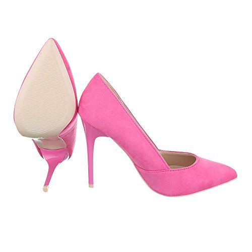 High Heel Damenschuhe Plateau Pfennig-/Stilettoabsatz High Heels Ital-Design Pumps Pink