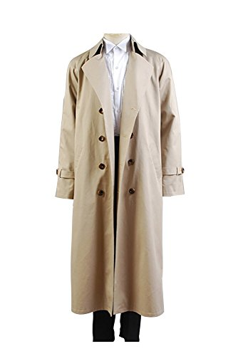 Supernatural Castiel Twill Trench mantel Cosplay Kostüm (Castiel Kostüm Supernatural)