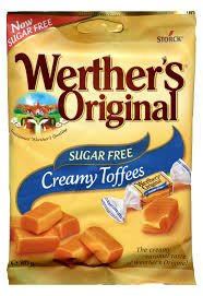 Werthers Sugar Free Creamy Chewy Toffees Pack of 3 (3 x 80g)