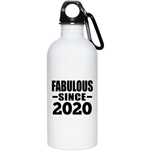 Designsify Geburtstag Wasser Flasche, Fabulous Seit 2020–Wasser Flasche, Edelstahl Tumbler, Beste Geschenk für Familie, Freund, Geburtstag, Urlaub, Jahrestag, Mutter/Vater 's Day
