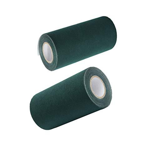 FLAMEER 2 Stücke Mehrzweck Kunstrasen Kunstrasenstreifen Selbstklebende Nahtbänder Synthetischer Turfnahtkleber, 5m + 10m