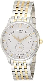 Tissot Dress Watch Analog Display Quartz For Men T063.637.22.037.00, Silver Band