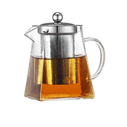 Wolaoma Théière en verre clair avec tamis et couvercle pour infuseur en acier inoxydable 304 pour le verre en vrac au borosilicate de thé (Couleur : Clair, taille : 650ml)