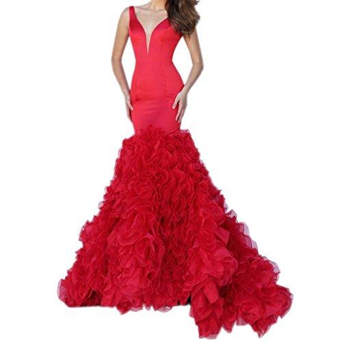 Fanciest -  Vestito  - linea ad a - Donna Rosso