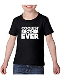 YaYa cafe Bhaidooj Kids Boy T-Shirt Coolest Brother Ever Printed Cotton