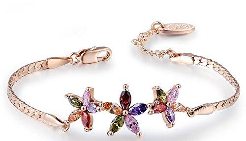 SaySure - 14k Gold plated bracelet charms Rose golden