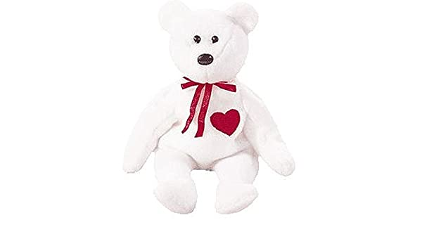 Buy Ty Beanie Babies Valentino Bear Stuffed Animal Plush Toy 8 1 2 Inches  Tall White With Red Heart And Bow By Smartbuy Online at Low Prices in India  ... f8699b7b1d68