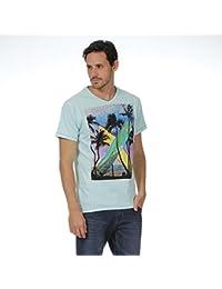 T shirt bleu ciel Beach and City