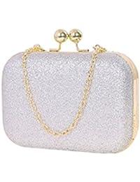 sasairy femme bling sac main de soire pochette sac de mariage bal avec chane mini - Pochette Argente Mariage