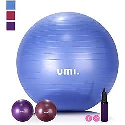 Umi. by Amazon - Pelota de Ejercicio Gym Ball para fitness, yoga, pilates, Embarazo y Sentarse,65 or 75 cm