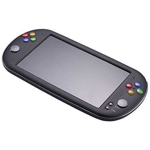 Fcostume Handheld Spielkonsole, 7 Zoll tragbares Handheld Spiel - Videospielkonsole - Integriertes 8G für GBA NES-Spiele- Spiele Konsolen (schwarz) (Handheld Karte Spiele Elektronische)