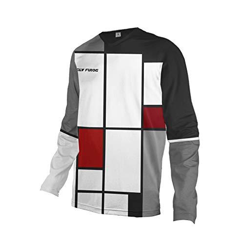 Uglyfrog 2019-2020 Rennrad Jersey Mountain Bike Motocross Downhill Enduro Cross Motorrad MTB Shirt Herren Long Sleeve Thermal MTB Winter Downhill Jersey HerDownKZR03 -