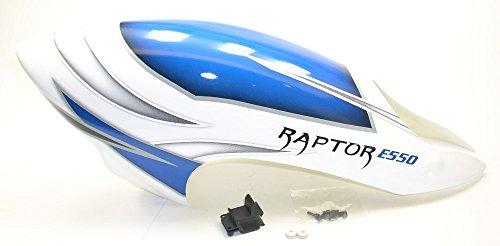 Preisvergleich Produktbild Thunder Tiger Raptor E550 FBL PV6335 GFK Kabinenhaube Fix und Fertig TH6®