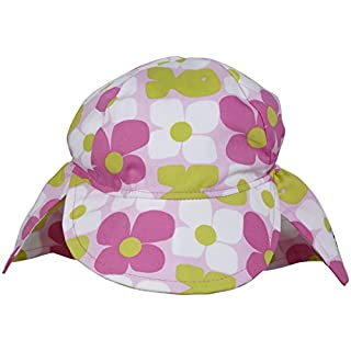 Flap Happy Baby Girls' Original Flap Hat - Aquatic Wallflower - Newborn