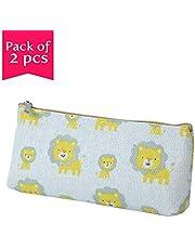 Enwraps Tiger Ceam 8X3 Canvas Cloth Pencil Case Pouch Pac