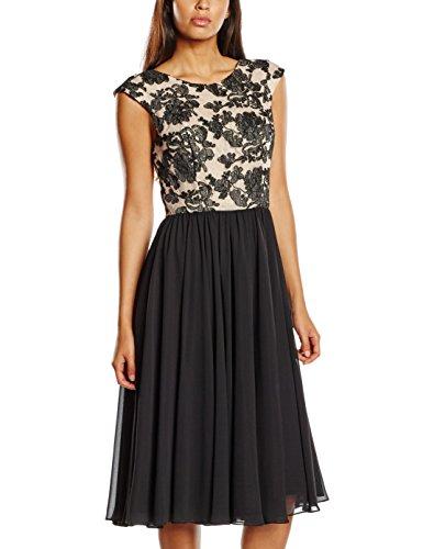 Swing Damen knielanges Kleid mit Blumenverzierung Mehrfarbig - 3