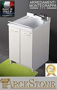 lavatoio edilla montegrappa bianco 60x50x85 cm: amazon.it: fai da te - Arredo Bagno Montegrappa