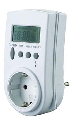 GAO Digitale Zeitschaltuhr mit Funkuhr nach DCF77 Signal maximal 28 Schaltungen pro Woche EMT707RCC von GAO - Lampenhans.de