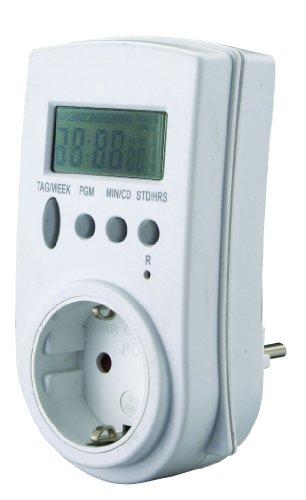 GAO Digitale Zeitschaltuhr mit Funkuhr nach DCF77 Signal maximal 28 Schaltungen pro Woche EMT707RCC