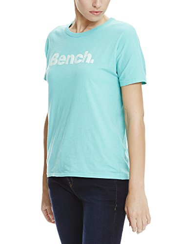 Bench Grown On Sleeve, Corp Print Tee, T-Shirt Donna Türkis (Turquoise TQ022)
