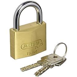 ABUS 75/40_ ka7346–Energie extra-ottone Vorhängeschloss Schlüssel-Sicherheit 40millimeter gleichen Schlüssel