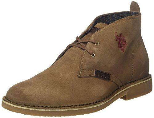U.S.POLO ASSN. Herren Amadeus13 Suede Desert Boots, Beige (Taupe), 44 EU (Schuhe Polo Stiefel Herren)