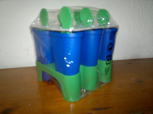 Ikea Formen für EIS am Stiel, für 6 Eise, Blau