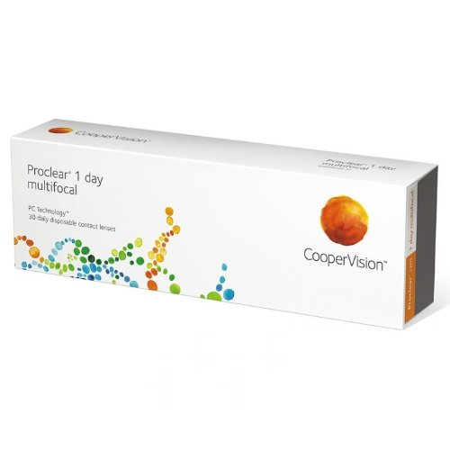 Proclear 1day Multifocal Tageslinsen weich, 30 Stück/BC 8.70 mm/DIA 14.20 / ADD MED / -1.00 Dioptrien