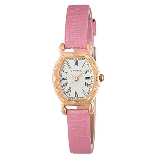 Damen Armbanduhr Frauen Berühmte weibliche Uhr Quarzuhr Quarzuhr , pink - Uhr Face Damen Dual