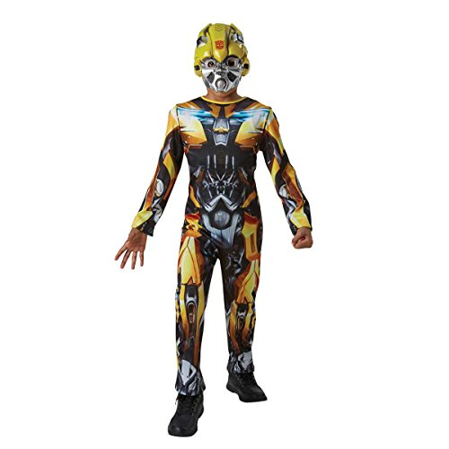 Rubie's Official Transformers The Last Knight Bumblebee Childs Costume, Medium 5-6 Years