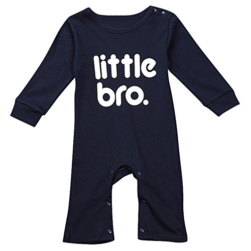 Le SSara BabyBoyLangarmCartoonRomperWeihnachtsoutfitsBodysuitKostüm (0-6 Monate, C-Blau) (Blau Bodysuit Kostüme)