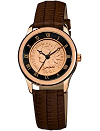 August Steiner CN005R-AS - Reloj de cuarzo para mujeres, color marrón