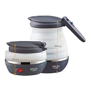 Adler AD1279 Elektrischer Wasserkocher, zusammenklappbar, 0,6 l, 750 W, BPA-frei, 750 W, 0,6 l, Silikon