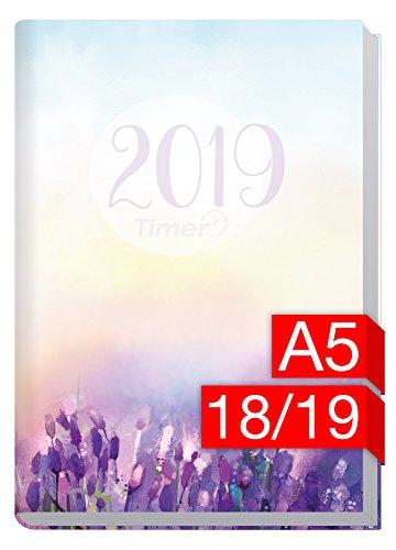 Chäff-Timer Classic A5 Kalender 2018/2019 [Flieder] 18 Monate Juli 2018-Dezember 2019 - Terminkalender mit Wochenplaner - Organizer - Wochenkalender