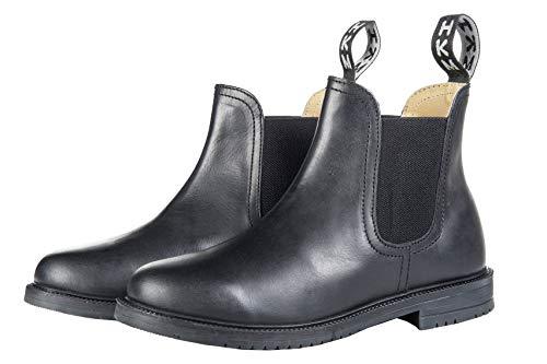 HKM Erwachsene Jodhpurschuh -Zürich- mit Elastikeinsatz9100 schwarz41 Hose, 9100 schwarz, 41