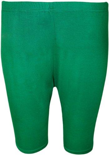 WearAll - Grand Taille Uni Élastiqué Cuissard - Pantalons - Femmes - Tailles 44 à 54 Jade