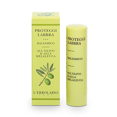 L'Erbolario Lippenschutzbalsam (Oliven-, Teebaumöl), 1er Pack (1 x 4.5 ml)