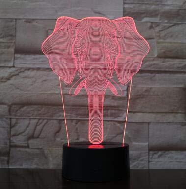 Glücklich wie Dumbo süßes Baby 7/16 Farbe LED Nachtlicht Hochzeitsfeier Dekoration 1pc beste Geschenk